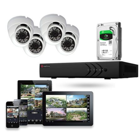 kit de videovigilancia 4 cámaras HD