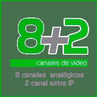 grabador de camaras de videovigilancia 8 canales analógicos mas 2 ip