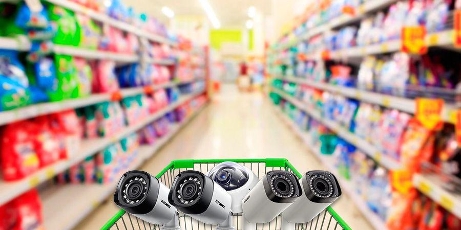 cámaras en un supermercado