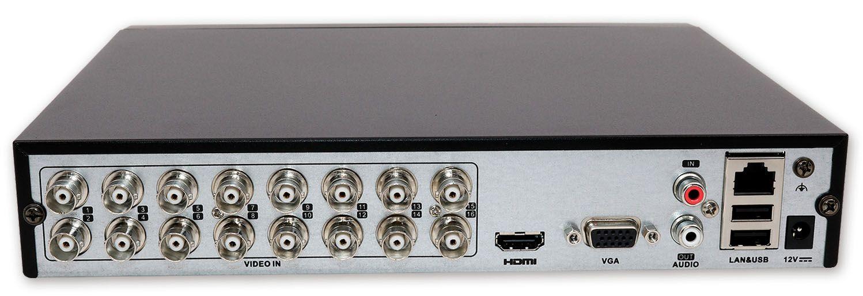 Grabador de videovigilancia zircon 16 canales trasera