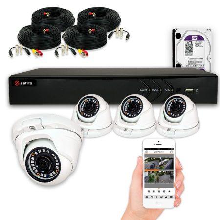 PACK de videovigilancia 2 a 4 CAMARAS FULL HD con grabador 1080pLite