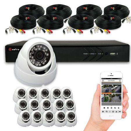 Pack de SISTEMA CCTV de 8-16 cámaras HD CASANDRA con grabador 1080pLite SAFIRE ZIRCON