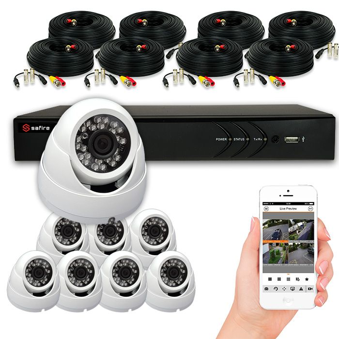 Kit de cámaras de vigilancia de 4 a 8 cámaras con grabador