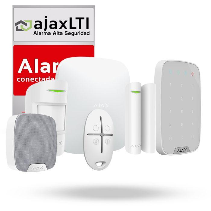 sistema de alarma inalambrica ajax kit oficina