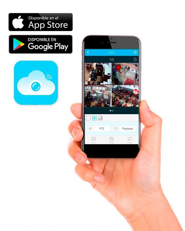 app kit nivian 4 camaras IP con grabador