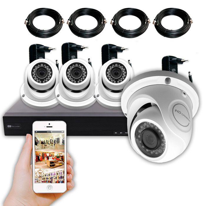 KIT FRANQUICIAS de artículos exclusivos con 4 cámaras de vigilancia de 5 Megapíxeles.