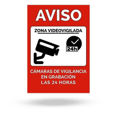 cartel disuasorio videovigilancia