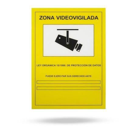 cartel homolado aviso de videovigilancia