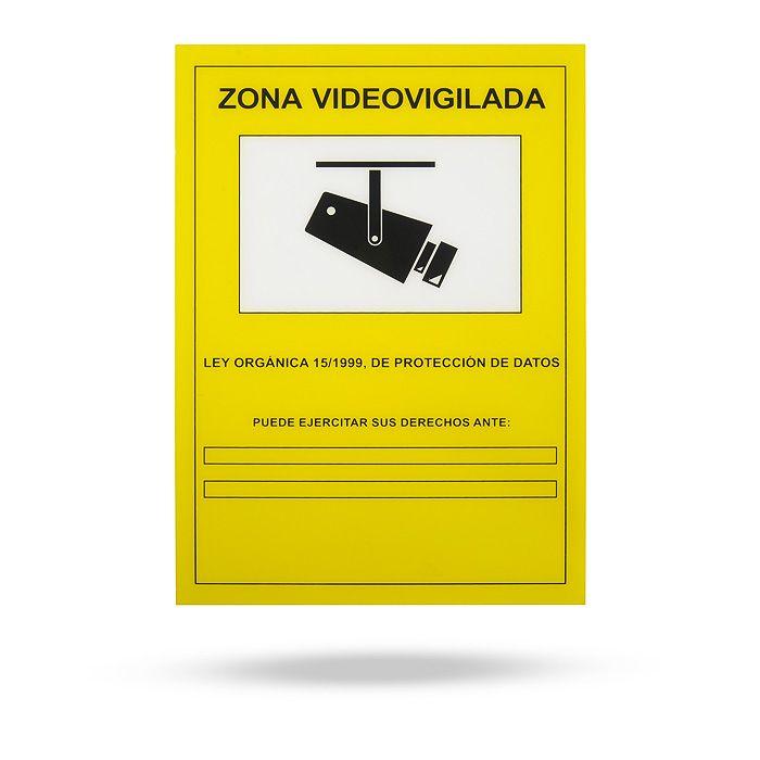 Cartel homologado de videovigilancia la tienda inteligente - Cartel de videovigilancia ...