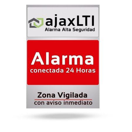 cartel disuasorio pvc alarma - Cartel aviso de alarma
