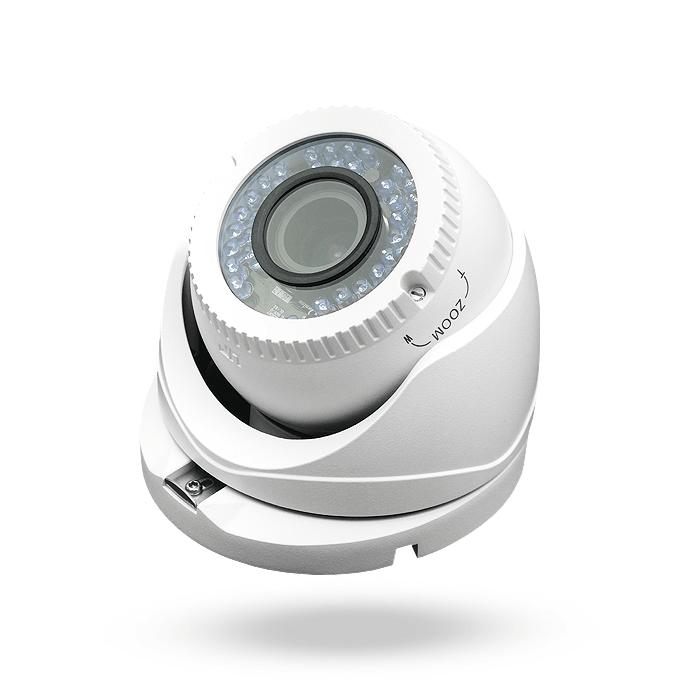 cámara domo Deimos con sistema de alimentación poc