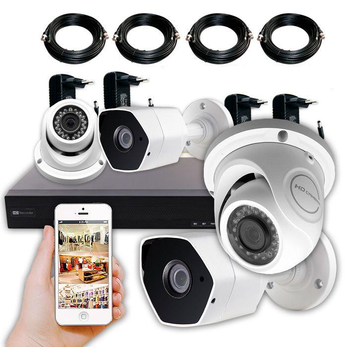 Kit Tienda 4 camaras de vigilancia en directo