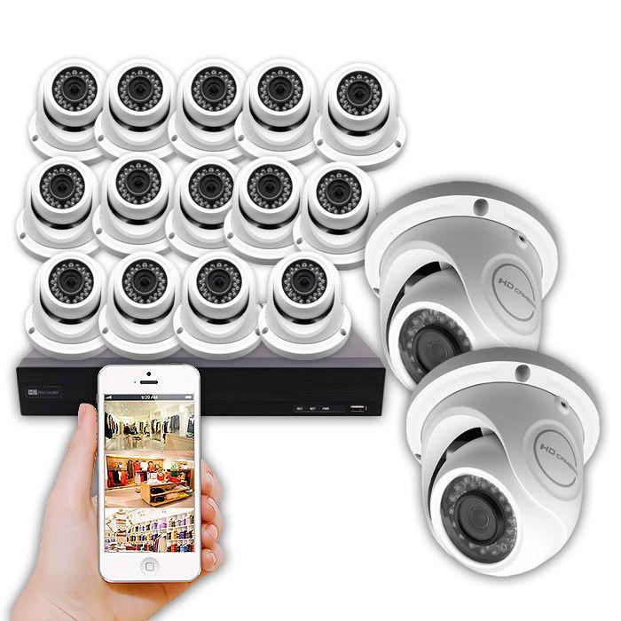 KIT CCTV 16 cámaras con grabador de 5 Megapíxeles