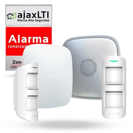 Ajax kit doble alarma perimetral con sirena