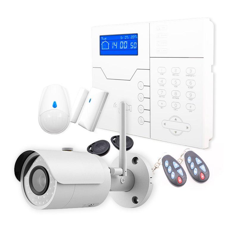 KIT Alarma Safe Sure + cámara Wifi exterior con grabación