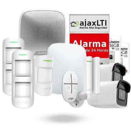 Alarma con videovigilancia sin cuotas - KIT AJAX PAREADO