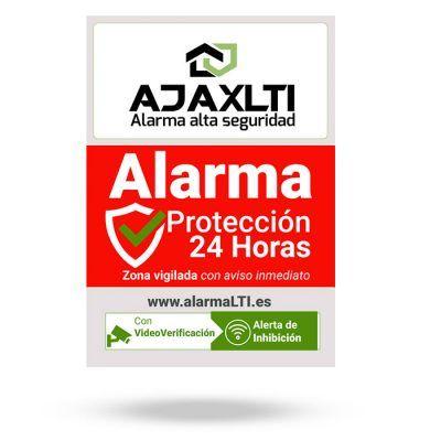 cartel disuasorio pvc alarma - Cartel aviso de alarma A5