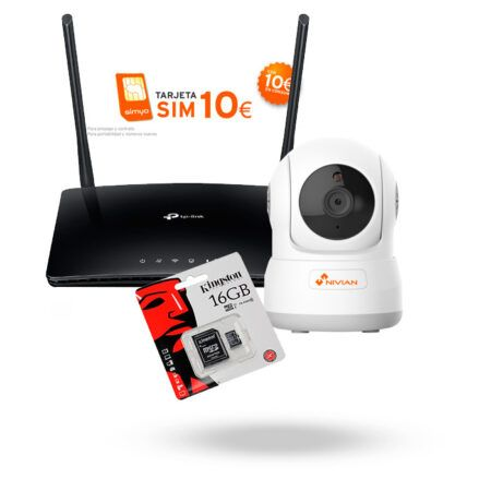 Kit Vigilancia sin Adsl KIT4G