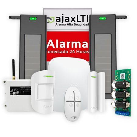 alarmas perimetrales exteriores - Kit alarma ajax con barrera solar infrarroja