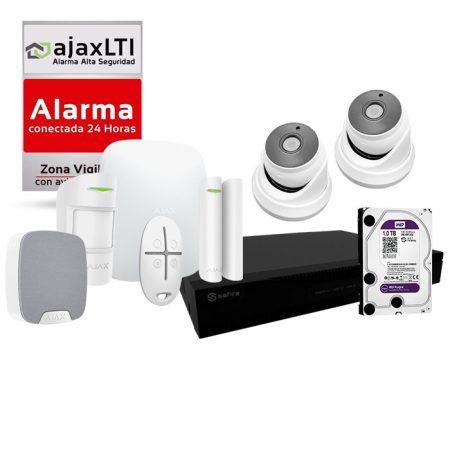 kit alarma inalambrica con cámaras y grabador de sistema PoC