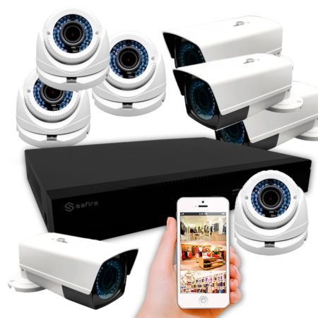KIT 8 CÁMARAS POC LENTE VARIFOCAL (CCTV POC)