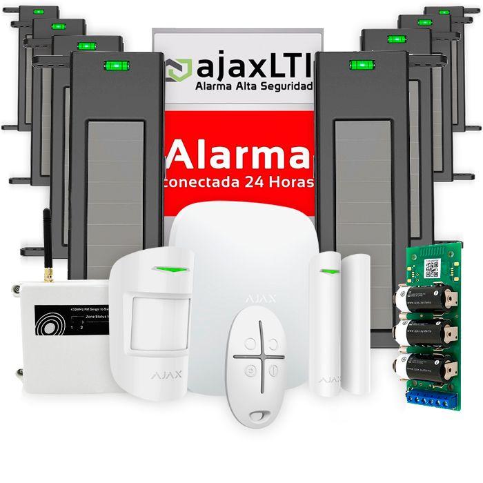 Kit Ajax con 4 pares de barreras de alarmas para parcelas