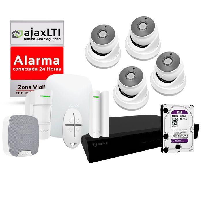 Kit de Alarmas con cámaras de videovigilancia y grabador PoC