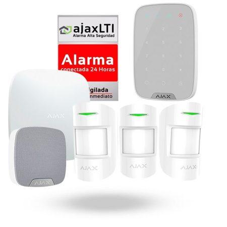 Kit profesional ajax con teclado de alarma