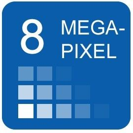 8 megapixeles