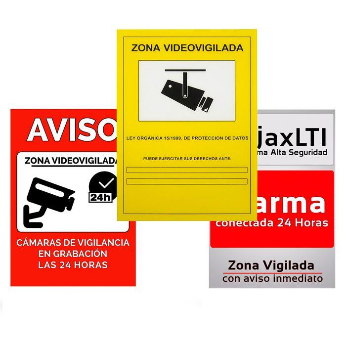 Carteles de alarma y vigilancia