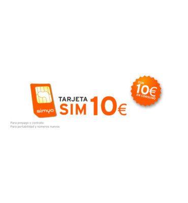 Tarjeta Sim Prepago De Symio Con 10€ De Saldo