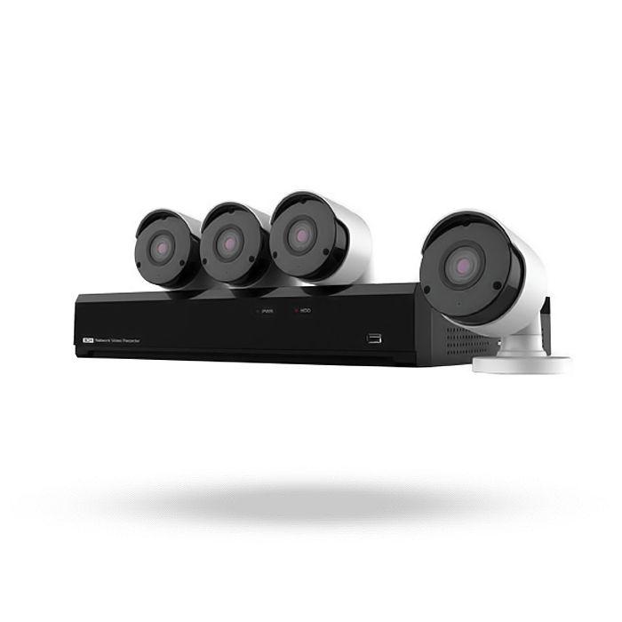 Kit videovigilancia 4 cámaras ip 5 megapíxeles KITNV415M