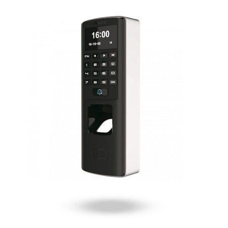 Control de acceso biométrico por huella, tarjeta y teclado para exteriores con alimentación PoE y salida de relé - M7