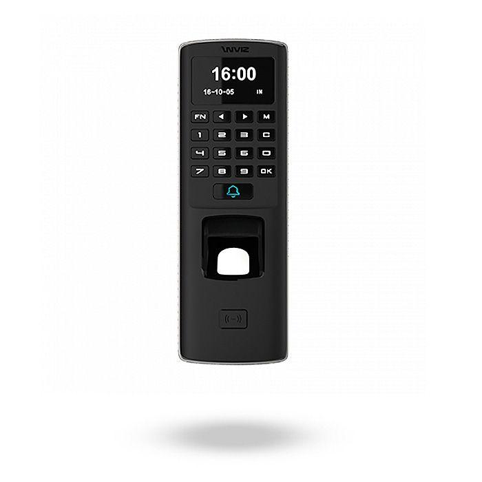 Control de acceso biométrico por huella, tarjeta y teclado para exteriores con alimentación PoE y salida de relé - M7 Frontal