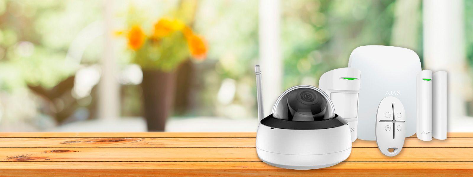 Kit AJAX de alarma inalámbrica con cámara WIFI grabadora