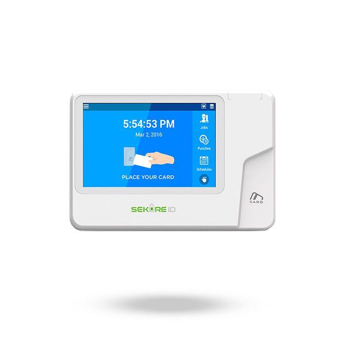 Lector RFID SK-T50 para control horario de empleados con grabación en la nube y app TIME-LOGIX para fichar desde móvil