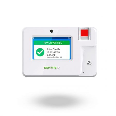 Lector de huella, Tarjeta y PIN para control de jornada laboral SK-T200 con grabación en la nube y app TIMELOGIX para fichar desde móvil