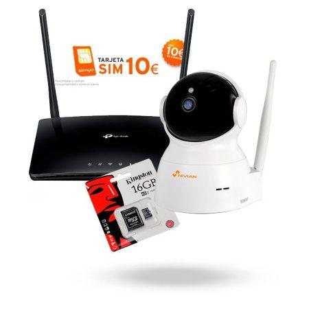 Kit Vigilancia sin Adsl KIT4G