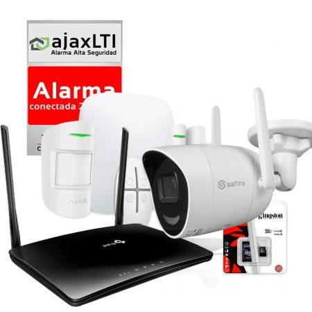 KIT AJAX de Alarma 4G con Cámara IP para VIVIENDAS sin Internet
