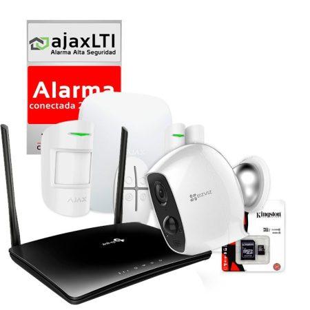 KIT AJAX de Alarma sin Cuotas con Cámara IP inalámbrica
