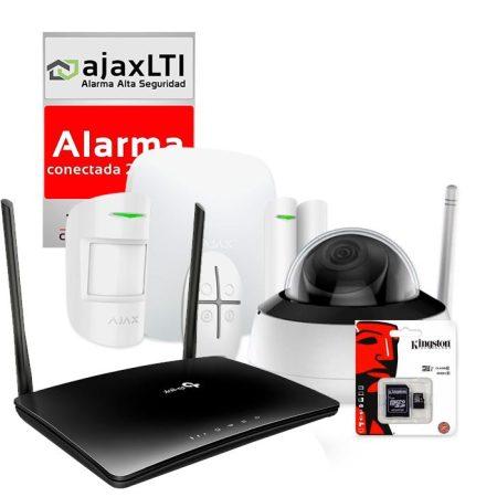 Kit AJAX de alarma para casa de campo sin internet con cámara ip