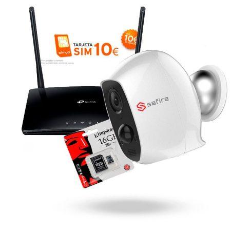 KIT Vigilancia con ROUTER 4G y Camara ENERGIZ sin cables