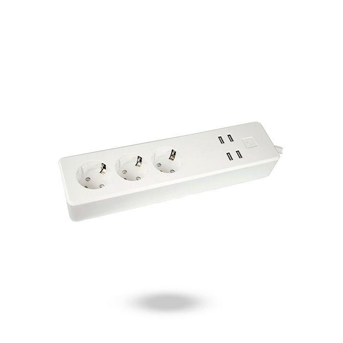 REGLETA INTELIGENTE WIFI 3 TOMAS Y 4 PUERTOS USB