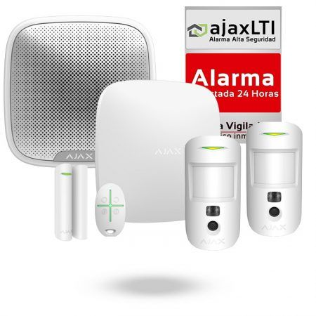 Kit Ajax Protección del Hogar con 2 MotionCam y sirena exterior