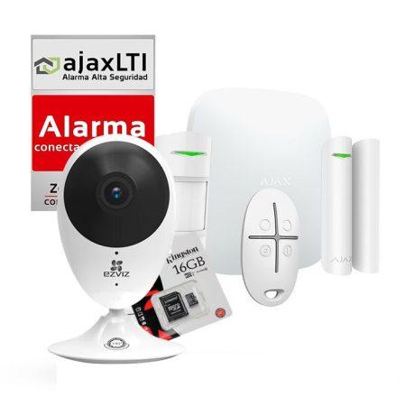 Kit Ajax de alarma antirrobo para casa con HUB 2 y cámara wifi con grabación