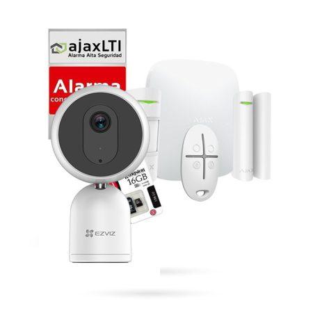Kit Ajax de alarma casa barata con cámara 180º Ezviz