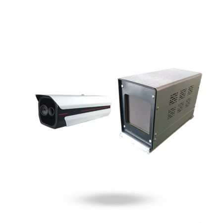 Sistema de termómetro a distancia con cámara térmica IP y calibrador de precisión SAFIRE CLINIC