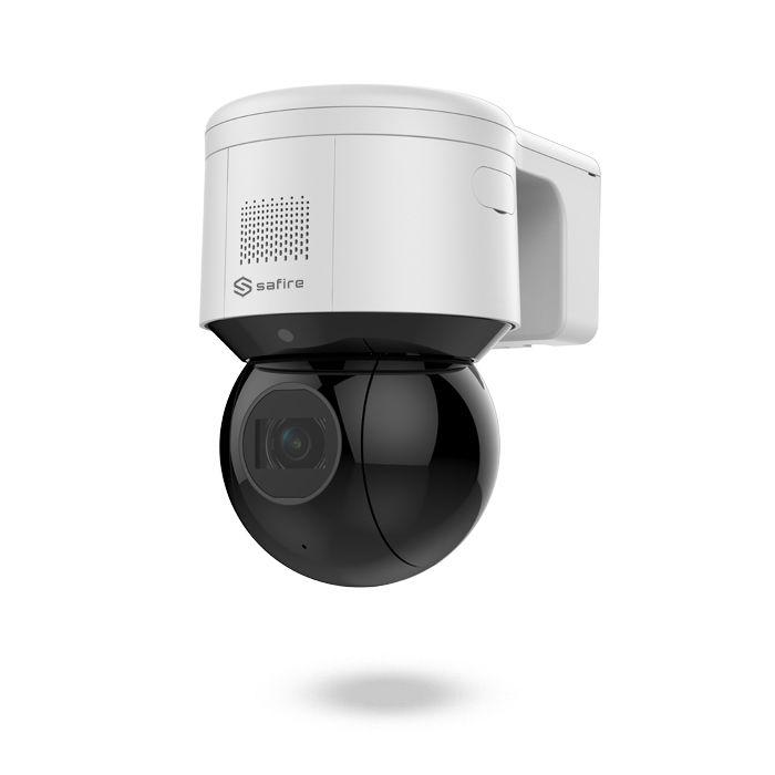 Cámara domo motorizada IP PTZ PoE de 4 Mpx con audio, alarma y visión nocturna 50m SAFIRE IKUCHI