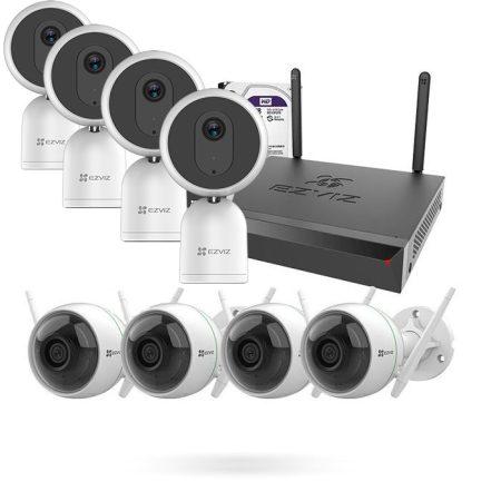 Kit Cámaras de Vigilancia Wifi con Grabador + 4 C1T EZVIZ + 4 c3wn
