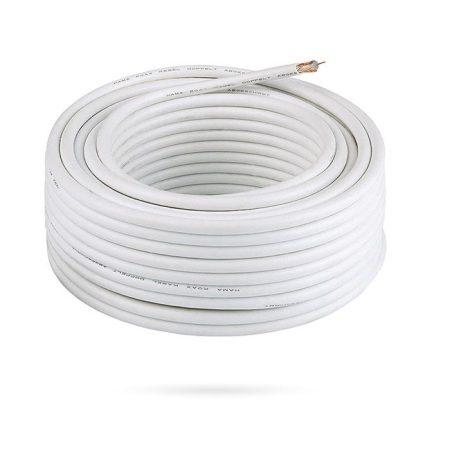 Bobina de cable coaxial rg59 100 metros blanco